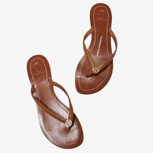 Tory Burch Terra Royal Tan/Gold Thong Sandals